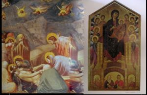 Images from works by Giotto and Cimabue 14th Century