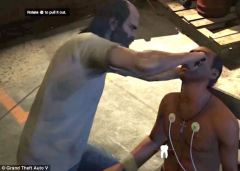 The text in this image instructs players to rotate the pliers to pull out the victim's eyes.