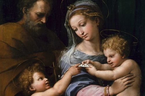 Image of Raphael's Holy family at www.abc.net.au